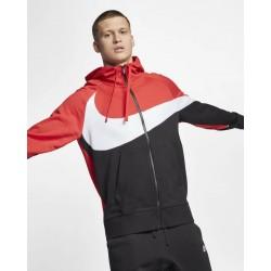 Nike giacca con cappuccio e zip AR3084 657