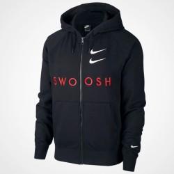 Nike giacca Sportswear Swoosh Hooded Full-Zip CT7362 010