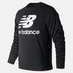 New Balance Essentials Stacked Logo Crew MT91548BK