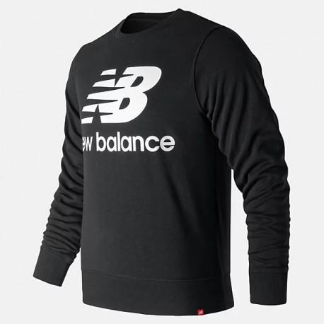 New Balance Essentials Stacked Logo Crew MT91548BK