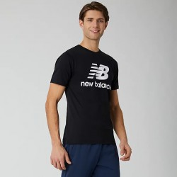 New Balance T-shirt Essentials Stacked Logo MT01575BK