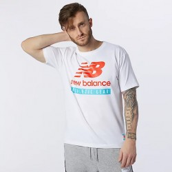 New Balance T-shirt Essentials Logo MT11517WT