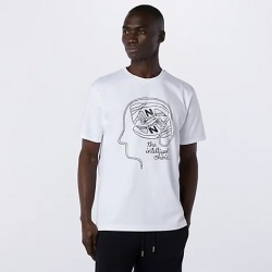 New Balance T-shirt Athletics De Lorenzo Shoe Tee Lifestyle MT11519WT
