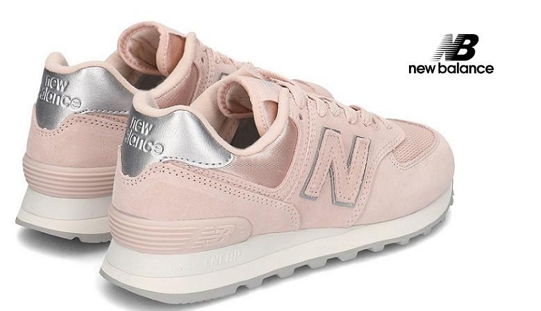 New Balance 574 Satin Pink